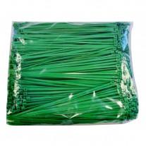 "Plastic Zip Ties - 8.9"" Green, 40 lb. Tensile Break Strength"