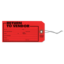 Return to Vendor Tag