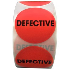 "2"" Circle Defective Labels"