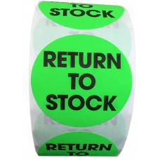 "2"" Circle Return to Stock Labels- CF RECYCLER SUPPLY"