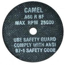 "CGW Camel High Speed Reinforced Cut-Off Wheel 3"" X 1/16"" X 3/8"""