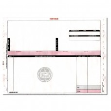 Invoices-Hollander 3 Part Red & Black