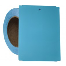 """4"""" x 5.5"""" Blue Notched Poly Stock Tag"""