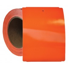 "4"" x 5.5"" Orange Notched Poly Stock Tag"