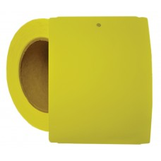 "4"" x 5.5"" Yellow Notched Poly Stock Tag"
