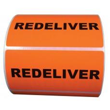 """Circle Label- 4"""" x 2"""" Redeliver Label 500/RL"""