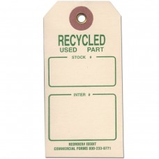 RECYCLED USED PART TAG