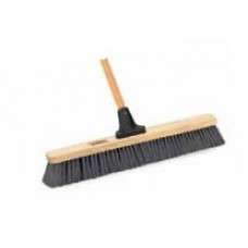 "Push Broom- 24"" Unbreakable head, 60"" Handle Outdoor HD Wet/Dry"