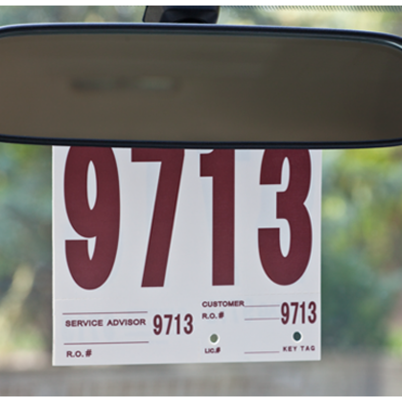 Auto Service ID Tags in Use