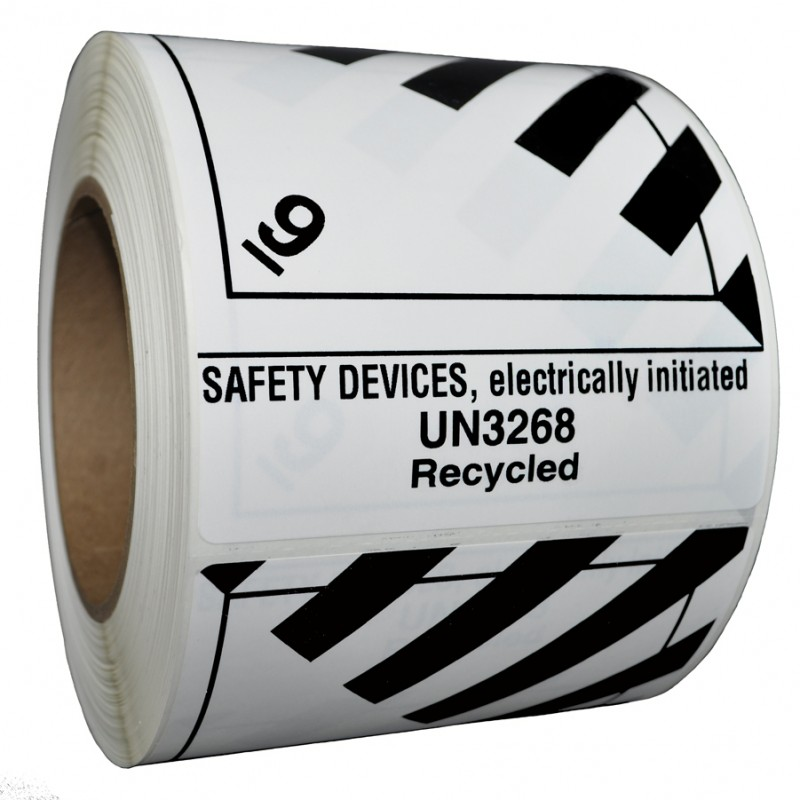 Precautionary Labels - Class 9 UN3268 safety devices