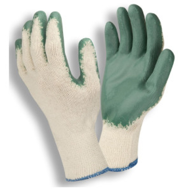 Green Latex Coated Knit Gloves