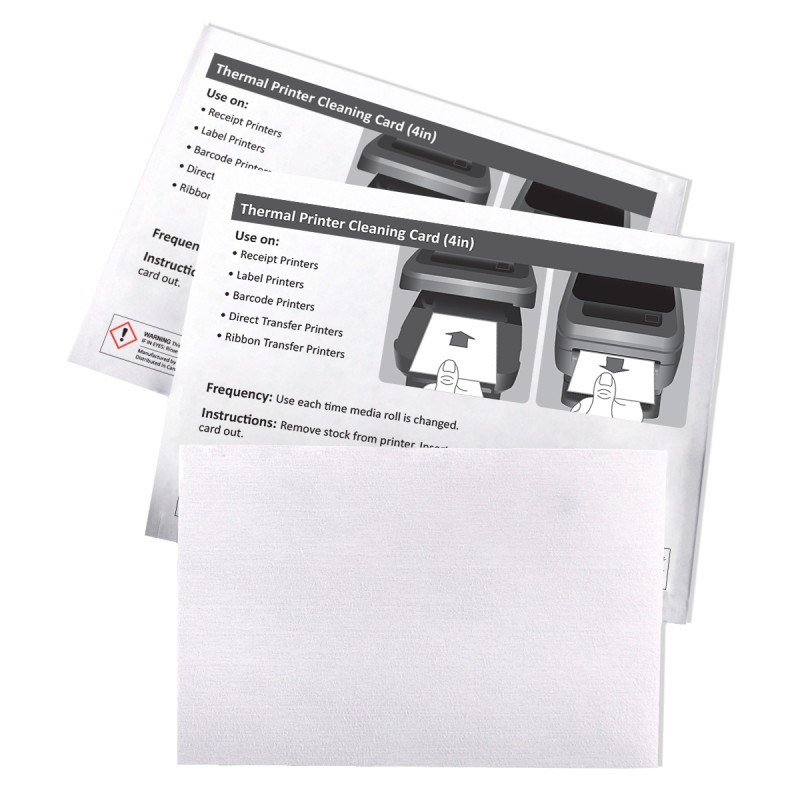 Thermal Printer Clean Cards | Commercial Forms