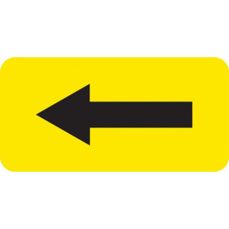 rack arrow label yellow vinyl 2 x1