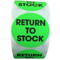 """Label - 2"""" Circle Return to Stock Labels Green 500 per Roll"""
