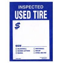 Tire Tags - Staple-on Tyvek Inspected Used Tire