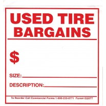 Tire Tags - Adhesive Stickers/Labels Used Tire Bargain