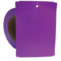 "Thermal Transfer Tags Weatherproof - 4"" x 5.5"" Purple Notched PolyMaxx Tag Stock"