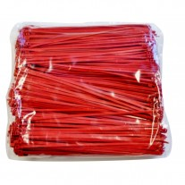 "Plastic Zip Ties - 8.9"" Red, 40 lb. Tensile Break Strength"