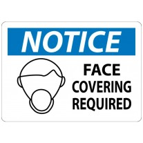Warning Sign-NOTICE FACE COVERING REQUIRED