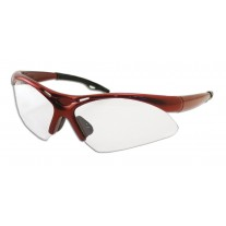 Safety Glasses - DIAMONDBACKS - Red Frame & Clear Lens