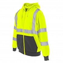 Cordova Cor-Brite™ Hooded Sweat Shirt - Hi Visibility Lime