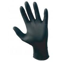 Gloves - Disposable Black Nitrile Gloves 4 Mil - 100 Gloves