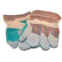 Gloves - Leather - Double Leather Palm - 12 Pairs