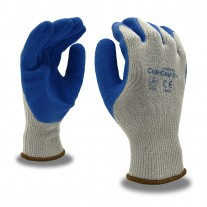 Gloves - Cor-Grip Blue Crinkle Latex Coated - 12 Pairs