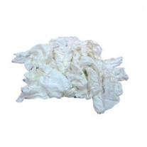 Shop Rags - New Washed & Bleached Mill End Knits 25# Case