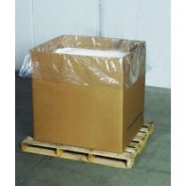 """Bags - Gusseted Plastic Poly Gaylord Box Liner 3 Mil 70"""" x 44"""" x 62"""""""