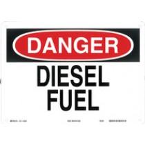 Warning Sign-DANGER DIESEL FUELAluminum