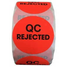 """2"""" Circle QC REJECTED Labels- CF RECYCLER SUPPLY"""