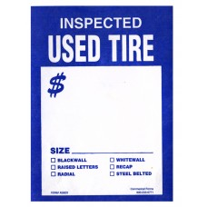 Tire Tags - Staple-on Inspected Used Tire