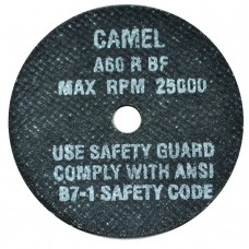 "CGW Camel High Speed Reinforced Cut-Off Wheel 3"" X 1/16"" X 3/8"""