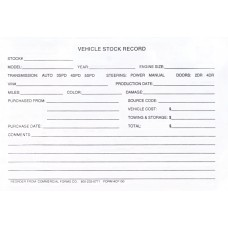 Vehicle Stock Record Pads
