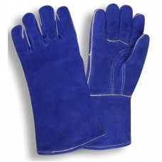 Welding/Torch Blue Kevlar® Sewn Leather Gloves