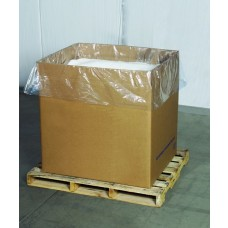 "Bags - Gusseted Plastic Poly Gaylord Box Liner 3 Mil 54"" x 44"" x 72"""