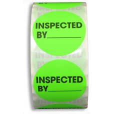 "2"" Inspected By Label"