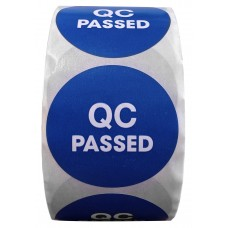 """2"""" Circle QC PASSED Labels- CF RECYCLER SUPPLY"""