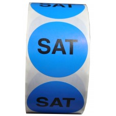 "2"" Saturday ""SAT"" Adhesive Label"
