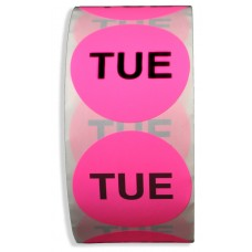 """TUE"" 2"" Adhesive Label"