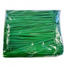 "Plastic Zip Ties - 8.9"" Green, 40 lb. Tensile Break Strength"