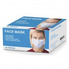 Face Mask Disposable Blue