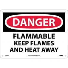 Warning Sign-DANGER FLAMMABLEPlastic