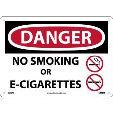 Warning Sign-DANGER NO SMOKING Plastic