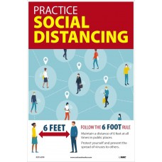 COVID-19 PRACTICE SOCIAL DISTANCE Poster