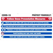 COVID-19 PROTECT YOUR SELF BANNER