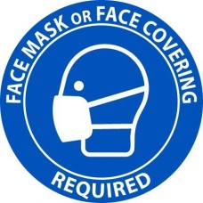 FACE MASK OR COVERING REQUIRED LABELS