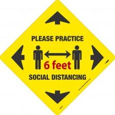 6' Social Distance Floor Stickers