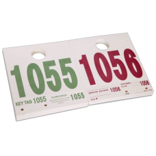 Service ID Dispatch Numbered Hang Tags